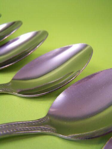 12 schöne Edelstahl Teelöffel gepunktetes Griffdekor Kaffeelöffel Löffel 15,5 cm