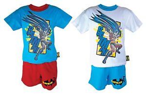 Garcons-enfants-100-coton-batman-manches-courtes-haut-et-short-pyjama-pyjama-set