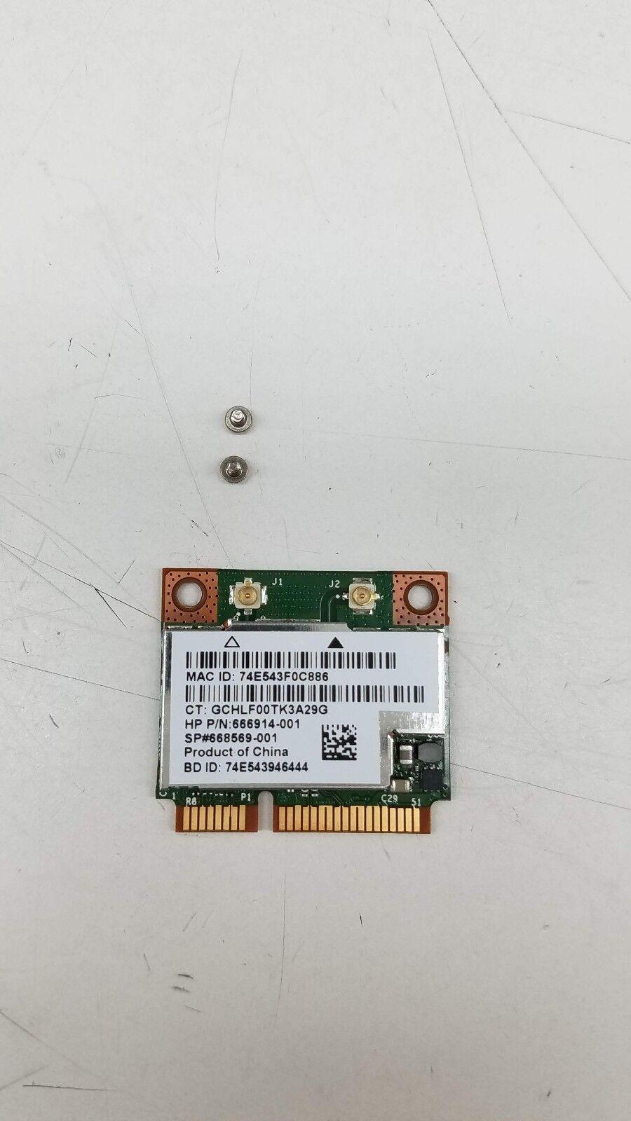 HP 697316-001 802.11a/b/g/n + BT 4.0 Wireless Combo Card