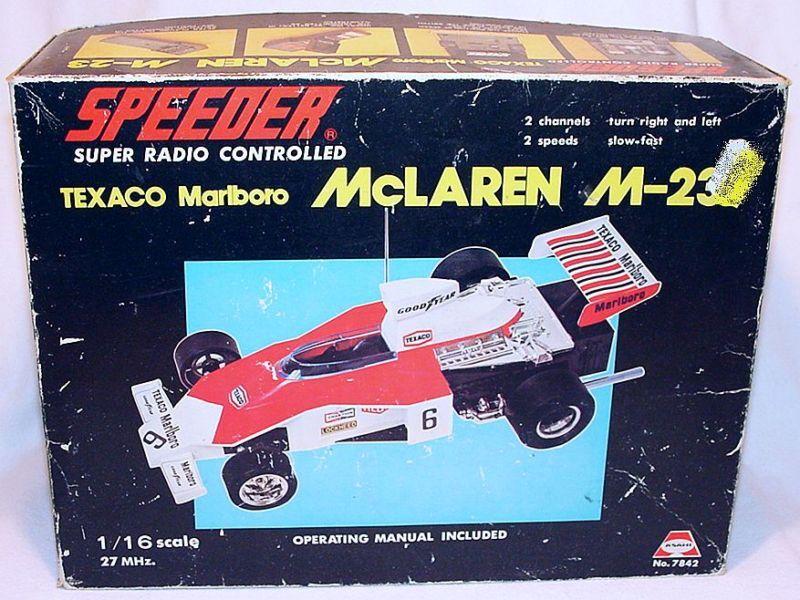 Asahi Japan 1 16 McLAREN M-23 F1 Racing Car Speeder RC Op. 27 MHz MIB`75 RARE