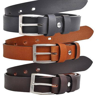 Pieno Pelle Cintura Belt Larga 3cm Nero O Marrone Lunghezza Selezionabile 4mm Dick-mostra Il Titolo Originale