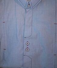 John Lennon Dress Shirt British Flag  Embroidered Lennon Head Double buttons