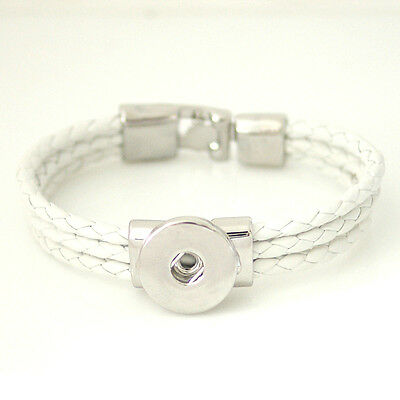 Snapit Leather Bracelet For Snaps Size 7 1/2  **Combined Shipping Available**
