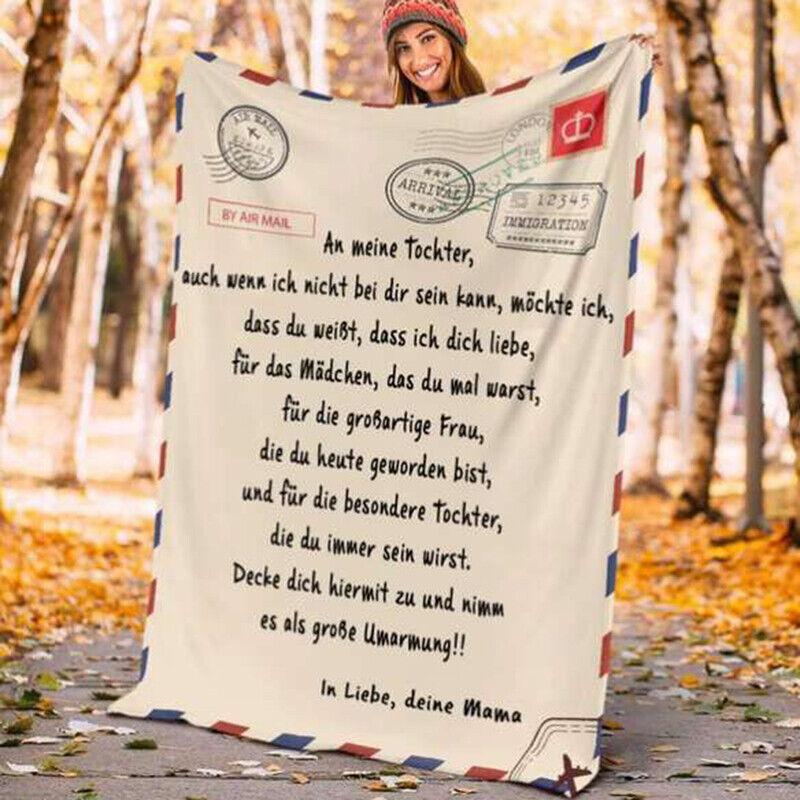 Winter Warm Flanell Decke Französisch Brief Soft Mail Brief Schlafzimmer Abdecch