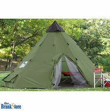Large C&ing Tent 6 Person Family Tepee Outdoor Shelter Hiking Equipment Gear  sc 1 st  eBay & Guide Gear 10x10 Teepee Tent Camping Hiking Outdoor Family ...