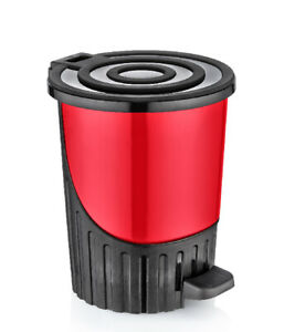 26-Litre-Useful-Office-Large-Rainbow-Red-H-40cm-Dustbin-Recycle-Waste-Disposal