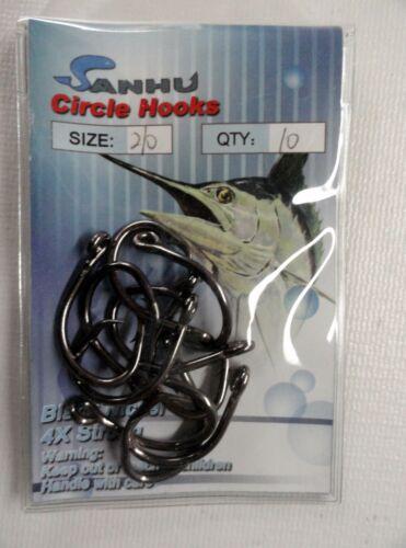 120 Cercle Crochets Forte 4x Nickel Noir 11 tailles fishing hooks