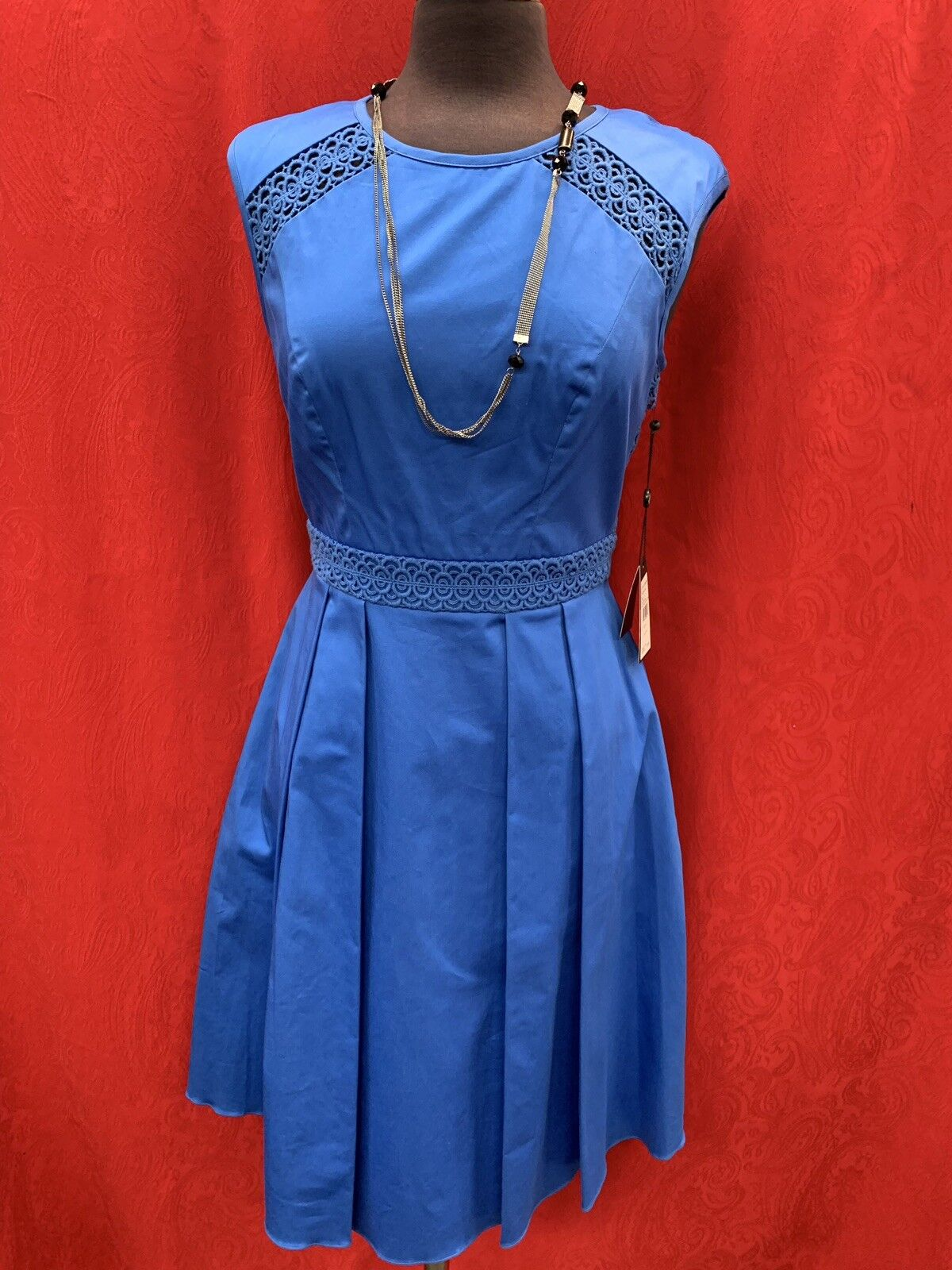 ADRIANNA PAPELL DRESS COTTON NEW WITH TAG RETAIL SIZE 10 LENGTH 40