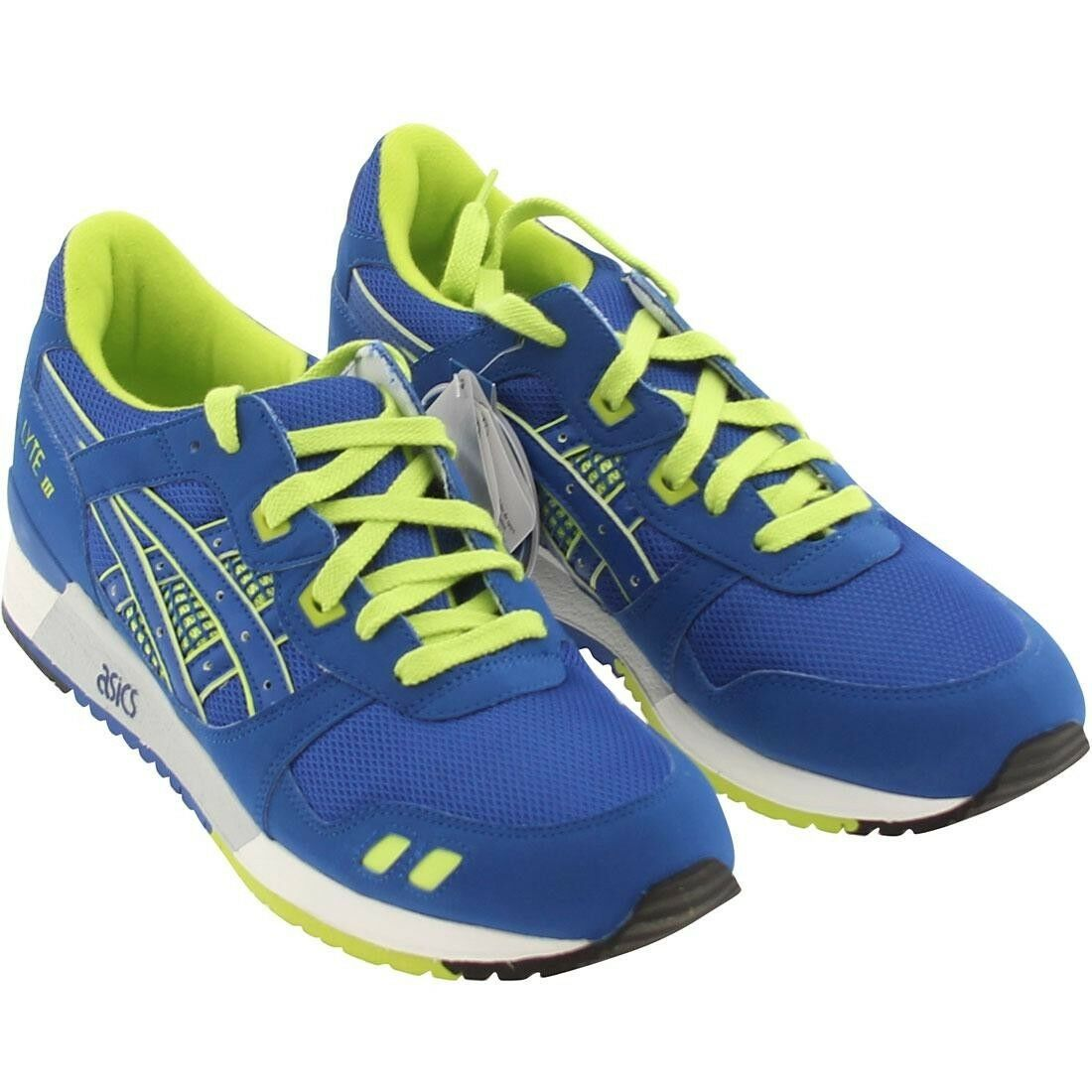 9.0 Asics Men Gel-Lyte III 3 royal neon green H30EK-9059
