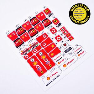 CUSTOM sticker for LEGO 8674 Ferrari F1 Racer
