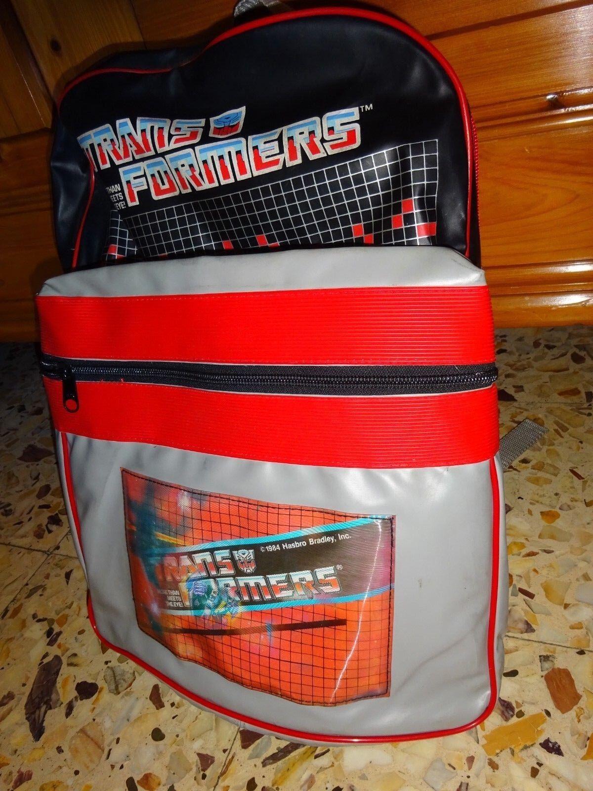 TRANSFORMERS Zaino Cartella 1984  School Bag Vintage MIB NEVER USED NUOVO