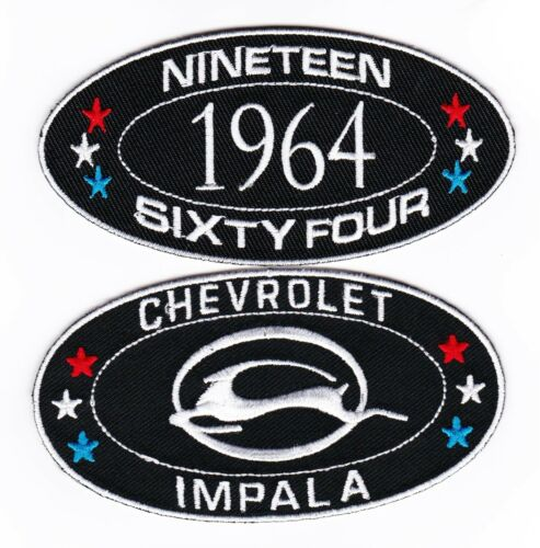 1964 CHEVY IMPALA SEW//IRON ON PATCH EMBROIDERED BADGE EMBLEM CHEVROLET LOWRIDER