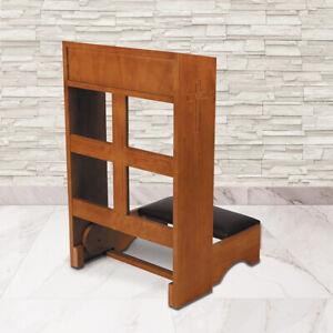 Folding-Kneeler-Carved-Cross-Medium-Oak-Stain-Maple-Hardwood