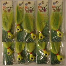 Lot of 10 New Wahoo Big Eye Bucktail Jig Offshore Saltwater Fishing Lures WO66