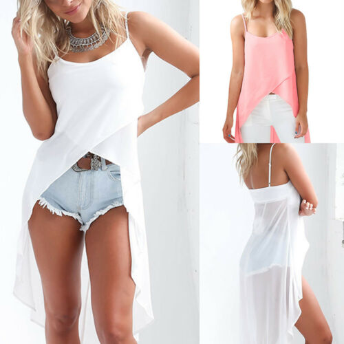Summer Women Chiffon Loose Top Sleeveless Blouse Ladies Casual Tank Tops
