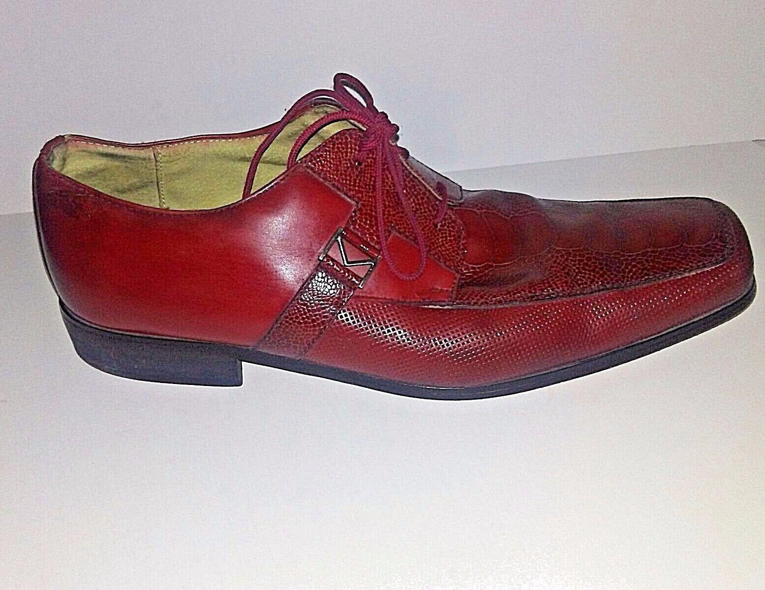 Marco Vicci Columbus Men's 12M Burgundy . Leather Upper Dress shoes. . Burgundy 8d1189
