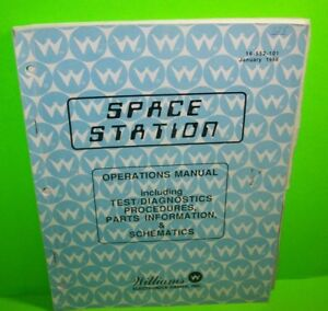 SPACE-STATION-Pinball-Machine-Service-Manual-Original-Arcade-Game-1988-Williams