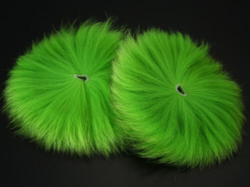 14 Different Colors,2 pcs Dyed Arctic Marble Fox Tail Hair Fly Tying Material
