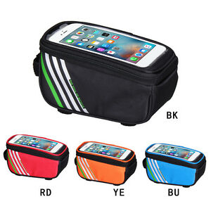 """5.7"""" Waterproof Mountain Bicycle Frame Front Top Tube Phone Bag Pannier 4 Colors"""