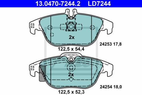 ATE Ceramic Bremsbelagsatz 13.0470-7244.2 MERCEDES-BENZ C-CLASS T-Model S204  
