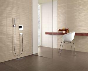 Flowmo Beige Wall Tiles 25 X 70cm In A Complete Bathroom