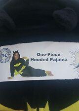 BATMAN Women's Hooded New One Piece Adult Union Suit Fleece Pajama with Cape M