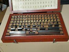 78 Piece Machinist Gage Block Set In Case Clb 20c 95 8492 Tool Room Set Up