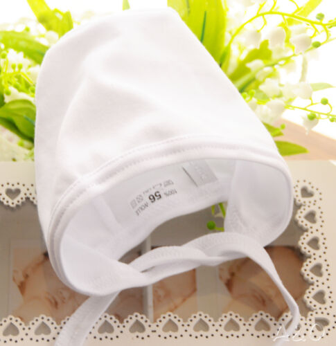 Weiße Baby Mütze Weiß Erstlingsmütze Mützchen  100/% Baumwolle A/&O NEU 56 UNI