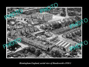 OLD-LARGE-HISTORIC-PHOTO-BIRMINGHAM-ENGLAND-AERIAL-VIEW-OF-HANDSWORTH-c1950-2
