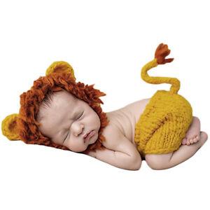 Baby Tier Löwe Häkeln Hut Kostüm Foto Fotografie Vorschl Bezaubernd