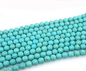 20-100Pcs-Natural-Turquoise-Round-Gemstone-Loose-Spacer-Beads-Charm-4-6-8-10MM