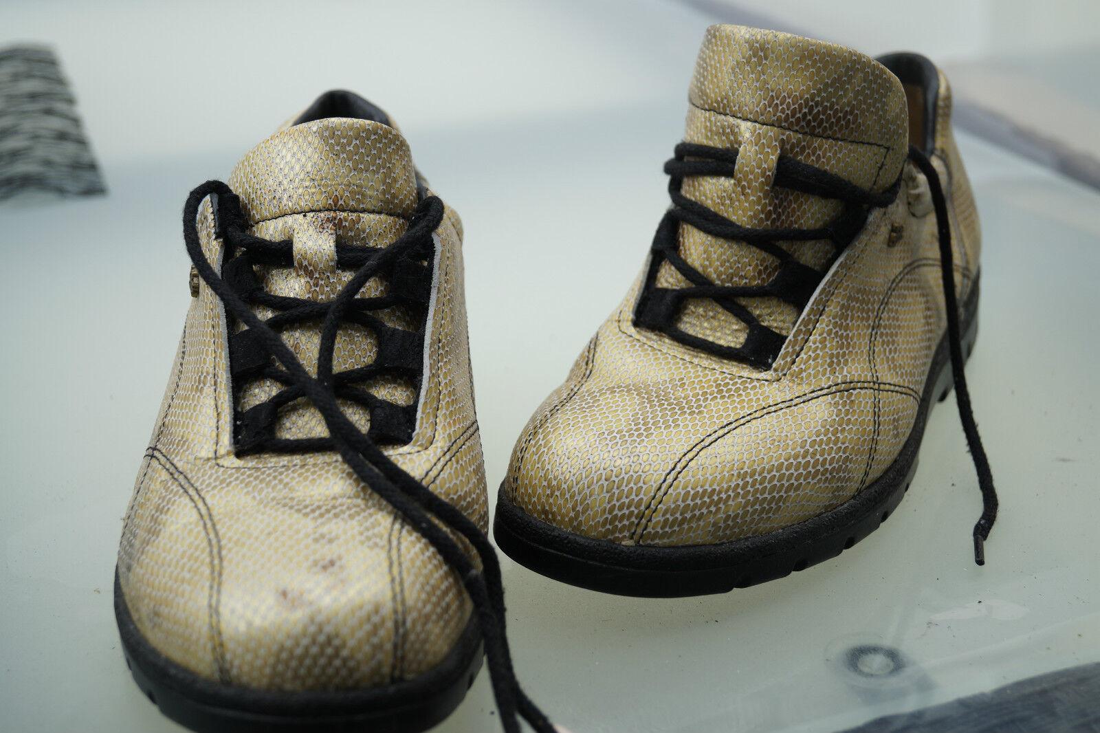 FINN Comfort Damen Schuhe Schnürschuhe Einlagen Schlange Gr.4,5 37,5 Leder  17