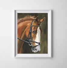 Chestnut, Horse - Original Watercolor Painting -11.7 x 8.3 inches / A4  UNFRAMED