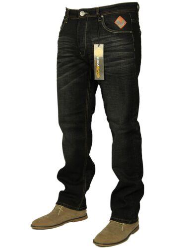BNWT Da Uomo Nuovo Taglia Grande Gamba Dritta Smart Casual Jeans Pantaloni Tutte le Taglie 30-60