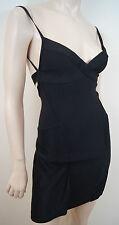 HERVE LEGER PARIS Black Bandage Strappy Backless Flared Skirt Mini Dress Sz:S