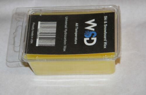 Ski Snowboard Wax 100 gram Universal Ski Wax All Temperature Hydrocarbon yellow//
