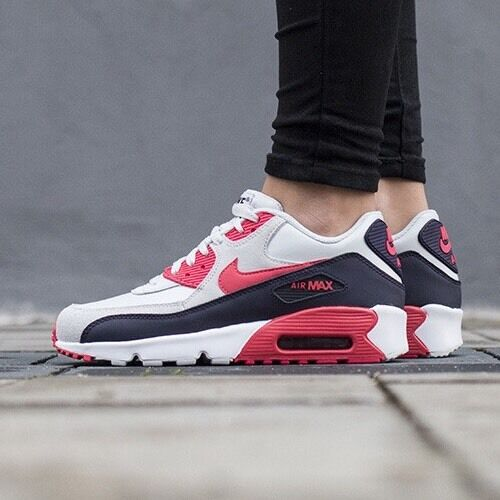 Nike Air Max 90 Premium Black Grey Red UK 4 EUR 36.5 RARE   LAST ONE    BNIB