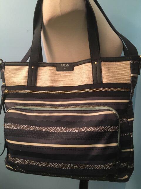 Shoulder Bag Crossbody Tote Navy/Cream