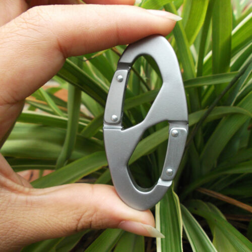 Heavy Duty Aluminum Alloy Carabiner Snap Clip Hook Keychain for Hiking New