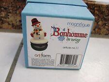 Trinket Box Snowman Bonhomme de neige  Magnifique by Art Form #11