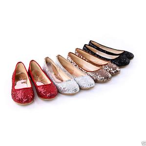 Women-039-s-Lady-Sequins-Glitter-Sequins-Slip-On-Ballerina-Ballet-Flat-Causal-Shoes