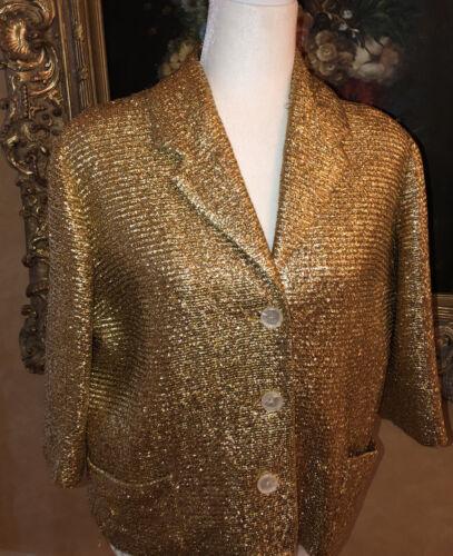 Vintage Levy's Memphis Gold Lame Jacket 1930-1940s