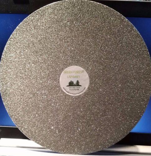 "THK 10/"" 80G Electroplated Diamond Flat Lap Lapidary Polishing Glass Facetor"