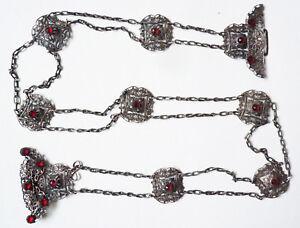 Distingué Ceinture Ethnique En Argent Bas Titre 19e Siècle Empire Ottoman Belt Techniques Modernes