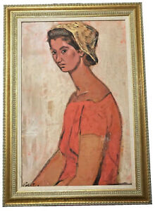 KURT-POLTER-GERMAN-AMERICAN-B-1914-PORTRAIT-OF-A-WOMAN-WITH-KERCHIEF