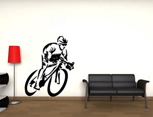 Adesivo MURALE BICI DA CORSA CICLISMO BDC Wall stickers alta qualità da parete
