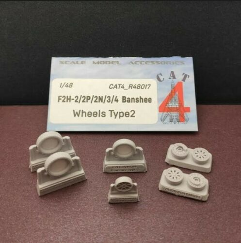 CAT4 R48017-1//48 F2H-2//2P//2N//3//4 Banshee wheels type 2 Resin parts