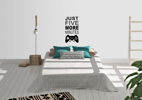 Just Five More Minutes Inspired Design Gaming Home Wall Art Decal Vinyl Sticker