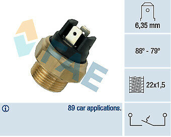 NEW FAE COOLANT TEMPERATURE SENSOR GAUGE 37340 FIT FOR CITROEN RENAULT TALBOT