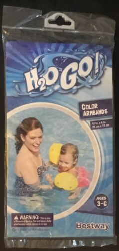 H2O Go Bestway Yellow Floating Pool Armbands Ages 3-6 Details about  /BRAND NEW